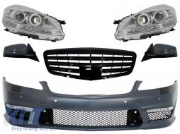 Complete Facelift Retrofit Front Conversion suitable for Mercedes W221 S-Class (2005-2009) S63 S65 Design - COFBMBW221AMGBG