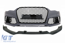 Complete Front Bumper with Add-On Spoiler Lip suitable for AUDI A6 C7 4G (2011-2015) RS6 Design - COFBAUA64GRSWOGFBS