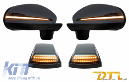 Complete Mirror Assembly with Turning Lights LED Sequential Dynamic suitable for MERCEDES G-Class W463 (1989-2017) 2018 Facelift Design - COCMAMBW463NLMS