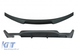Conversion Package to M Performance Design Air Diffuser With Trunk Spoiler suitable for BMW 4 Series Coupe F32 (2013-up) Matte Black - CORDBMF32MPCSB