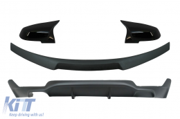 Conversion Package to M Performance Design Air Diffuser With Trunk Spoiler and Mirror Covers suitable for BMW 4 Series Coupe F32 (2013-up) Matte Black - CORDBMF32MPCSBB