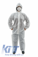Coverall Overall Dustproof Workwear Jumpsuit 100% polypropylene with Hood Disposable size XL/XXL - CBNZTNTXLTGH