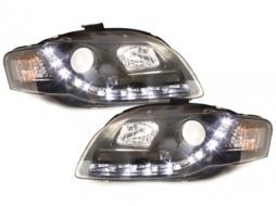 D-LITE Headlights AUDI A4 B7 daytime running light black - SWA08LGXB