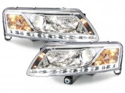 D-LITE Headlights Audi A6 4A 04-08 LED DRL HID Xenon D2S Chrome
