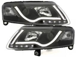 D-LITE headlights AUDI A6 4F 04-07 daytime running light black - SWA13SLGXBHID