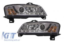 D-LITE Headlights Fiat Stilo 01-08L ED Daytime running light Chrome