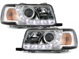 DAYLINE Headlights AUDI 80 B4 Limo Avant (1991-1994) LED DRL Look Chrome - SWA05GX