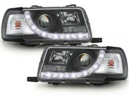 DAYLINE Headlights AUDI 80 B4 Limo/Avant (1991-1994) LED DRL Look Black - SWA05GXB