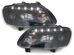DAYLINE Headlights LED DRL suitable for VW Touran 1T (2003-2006) suitable for VW Caddy 2K (2003-2010) - SWV34GXB/2295385
