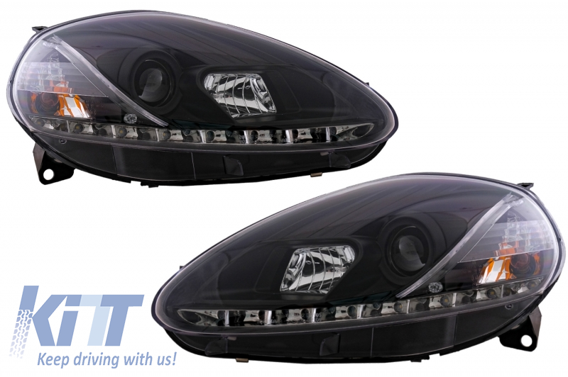 DAYLINE headlights suitable for FIAT Grande Punto 08-09 _drl-optic