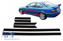 Door Moldings Strips BMW E36 3 Series Coupe Cabrio (1992-1998) M3 Design - DMBME362DM3