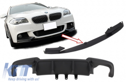 Double Air Diffuser with Front Bumper Spoiler Lip Package suitable for BMW F10 F11 5 Series (2011-2017) M-Performance Design - CORDBMF10MPDO