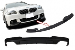 Double Air Diffuser with Front Bumper Spoiler Lip Package suitable for BMW F10 F11 5 Series (2011-2017) M-Performance Design - CORDBMF10MPDOTH