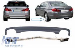 Double Outlet Air Diffuser BMW 5 Series F10 (2011-2017) M 550i Design with Exhaust System suitable for Standard Bumper - CORDBMF10LCIDOES
