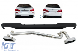 Double Outlet Air Diffuser for BMW 5 Series F10 (2011-2017)  with Exhaust System M-Technik 550i Design - CORDBMF10M5DES