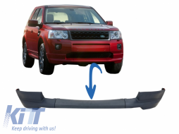 Dynamic Front Bumper Lower Lip Spoiler suitable for Land Rover Freelander 2 L359 Facelift (2011-2014) - LBFR019