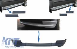 Dynamic Front Bumper Lower Lip Spoiler suitable for Land Rover Freelander 2 L359 Facelift (2011-2014) and Car Front/Rear Side Skirts Door Panels Left & Right - COLBFR019LBF