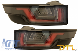 Dynamic Sequential Turning Light Full LED Taillights suitable for Range ROVER Evoque L538 (2011-2014) Light Bar Chrome Black - TLRREL358/LDLR12