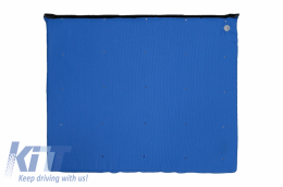 Entry Door Mat Blue Entrance for Disinfection Waterproof fabric Washable 90 degrees - MATRALBLUE
