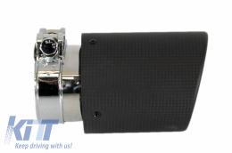 Exhaust Muffler Tips Carbon Fiber Matt suitable for BMW 3 Series E46 M3 E90 E39 E36 E60 M5 - GJET-021