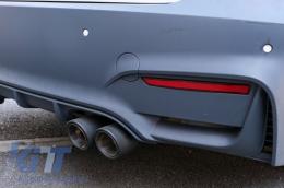 Exhaust Muffler Tips Carbon Fiber Matt suitable for BMW 3 Series E46 M3 E90 E39 E36 E60 M5 - GJET-024