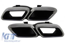 Exhaust Muffler Tips for Mercedes C-Class W205 S205 C205 A205 GLE C292 E-Class W213 S-Class W222 GLE W166 GLC W253 X253 C253 C217 (2014-up) A-Design - TY-C63-W205WOL