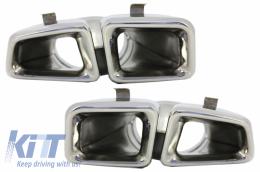 Exhaust Muffler Tips Mercedes Benz  W166 M-Class (2012-up) Chrome Edition - TY-W166
