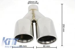 Exhaust Muffler Tips Quad BMW 3 Series E46 E90 F30 BMW 5 Series E60 F10 E92/E93 M3 M5 M-Power
