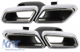 Exhaust Muffler Tips suitable for MERCEDES Benz S-Class W222 E-Class W212 S212 Facelift CLS W218 SL-Class R231 E63 S63 SL65 A-Design - TY-S63-W222