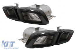 Exhaust Muffler Tips suitable for MERCEDES Benz  W166 M-Class (2012-up) Black Edition - TY-W166B