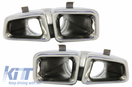 Exhaust Muffler Tips suitable for MERCEDES Benz  W166 M-Class (2012-up) Chrome Edition - TY-W166