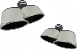 Exhaust Muffler Tips Universal Mercedes-Benz W211/W204/W221/W164 BMW E60/E63/E90/E92/F01 - TY-D004W