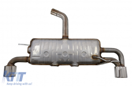 Exhaust System Double Outlet Single Exhaust Pipes suitable for VW Scirocco (2008-up) R Design - ESVWSRBF