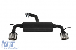 Exhaust System Volkswagen suitable for VW Scirocco (2008-up) R Design 129-316/27 Double Outlet Single Exhaust Pipes - ESVWSR