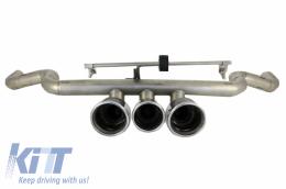 Exhaust System with Muffler Tips Honda Civic MK10 (FC/FK) (2016-Up) Sedan Type R Design - TY-HOCIFKR
