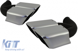 Exhaust Tips Muffler Tips suitable for PORSCHE Cayenne 958 (2011-up) Cayenne S, Cayenne Turbo, Cayenne Turbo S, - TY-D056