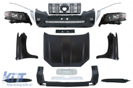 Facelift Conversion Body Kit suitable for TOYOTA Land Cruiser Prado FJ150 Retrofit Assembly 2010+ to 2018+ Model - CBTOPFJ150VX