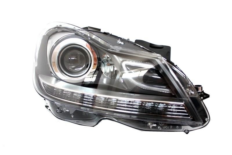 Facelift headlights mercedes benz c class w204 2007 2012 for Mercedes benz c300 headlights