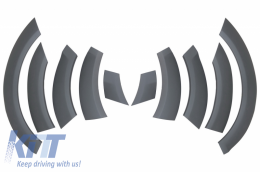 Fender Flares Wheel Arches suitable for Audi Q7 2006-2010 Off Road Package - Side Strips - FFA01