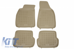 Floor mat Beige fits to suitable for AUDI A4 (B6, B7) 11/2000-10/2007 - 200301B