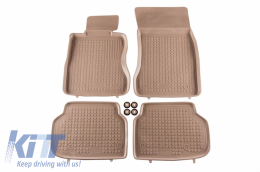 Floor mat Beige fits to suitable for BMW 7 (F01) (2008-2015) - 200707B