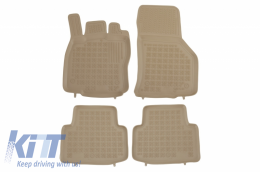 Floor mat Beige Rubber Black suitable for VW Passat B8 (2014-Up) - 200119B