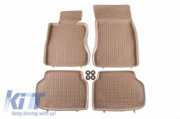 Floor mat Beige suitable for BMW 7 (F01) (2008-2015) - 200707B