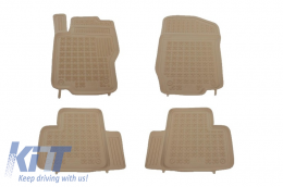 Floor mat Beige suitable for MERCEDES Benz W164 M-Class 2005 - 2011 - 201709B
