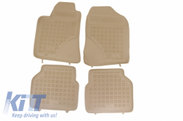 Floor mat Beige suitable for TOYOTA Avensis 2003 - 2009 - 201404B