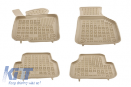 Floor mat Beige suitable for VW Passat Jetta 2010+, Passat B6 B7 CC Alltrack 2005-2012, Tiguan 2007-2015 - 200102B