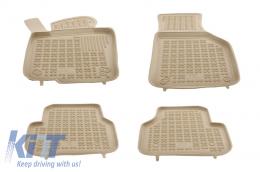 Floor mat Beige VW Passat Jetta 2010+, Passat B6 B7 CC Alltrack 2005-2012, Tiguan 2007-2015 - 200102B