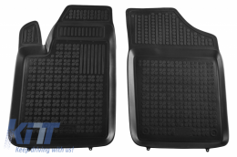 Floor mat black fits to CITROEN Berlingo II (2008-2018), PEUGEOT Partner II (2008-2018) - 201212P