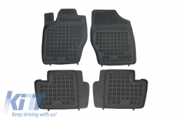 Floor mat black fits to CITROEN C4 I Hatchback (2004-2010) C4 II (2011-) suitable for PEUGEOT 307 (2001-2007) - 201218