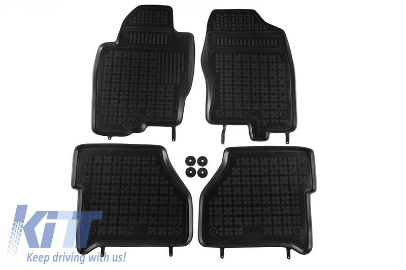 tapis sol floor mat caoutchouc noir nissan navara 03 2005 5990146 ebay. Black Bedroom Furniture Sets. Home Design Ideas
